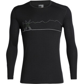 Icebreaker 200 Oasis Single Line Ski LS Crewe Shirt Men black